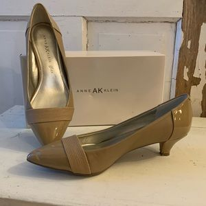 Anne Klein McKinley neutral leather pump Size 8